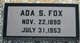 "Profile photo:  Addie S ""Ada"" <I>Seigel</I> Fox"