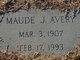 Maude <I>Johnson</I> Avery