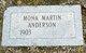Mona <I>Martin</I> Anderson