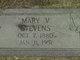 Mary Virginia <I>Crusenberry</I> Stevens
