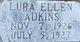 Profile photo:  Lura Ellen Adkins