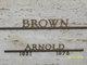 Profile photo:  Arnold Brown