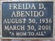 Profile photo:  Freida D. Abenido