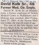 Profile photo:  David W Kolk, Sr