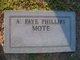 Profile photo:  A. Faye <I>Phillips</I> Mote