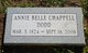 Profile photo:  Annie Belle <I>Chappell</I> Dodd