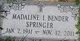 Madaline Irene <I>Socks</I> Bender Springer