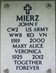 "Mrs Mary Alice Veronica ""M A"" <I>Johns</I> Mierz"