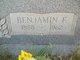 Profile photo:  Benjamin Franklin Alldredge