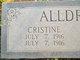 Profile photo:  Christine Alldredge