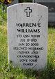 Profile photo:  Warren E. Williams