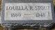 Louella <I>Rogers</I> Stout