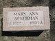 Mary Ann Ackerman