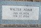 Profile photo:  Walter Adair