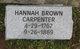 Hannah <I>Brown</I> Carpenter