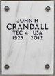 """Profile photo:  John Hamilton """"Jack"""" Crandall"""