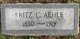 """Profile photo:  Charles Frederick """"Fritz"""" Aehle"""