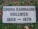 Louisa <I>Karrmann</I> Hollweg