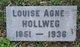 Louisa Agnes <I>Kohlman</I> Hollweg