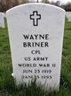 Corp Wayne Briner