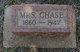 Profile photo:  (Mrs) Chase