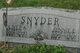 Jennie Edna <I>Lubold</I> Snyder