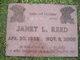 Janet Louise <I>Bender</I> Reed