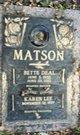 Profile photo:  Bette <I>Deal</I> Matson