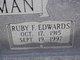 Ruby F <I>Edwards</I> Freeman