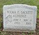 Profile photo:  Wilma F. <I>Sackett</I> Aldridge