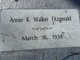Profile photo:  Annie R. <I>Walker</I> Fitzgerald
