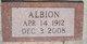 Profile photo:  Albion John Avery