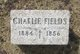 Profile photo:  Charlie Fields