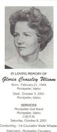 Gloria <I>Crossley</I> Wixom