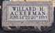 Willard H. Ackerman