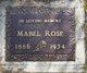 Mabel Maud <I>Rowe</I> Rose