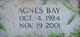 Profile photo:  Agnes Bay