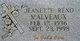 Jeanette <I>Reno</I> Malveaux