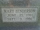 Mary <I>Henderson</I> Elliott