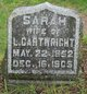 Sarah M <I>Wood</I> Cartwright