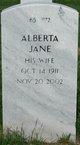 Profile photo:  Alberta Jane <I>Brown</I> Abbott