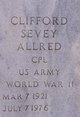 Profile photo:  Clifford Sevey Allred