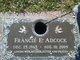 "Profile photo:  Frances Elizabeth ""Francie"" <I>Summers</I> Adcock"