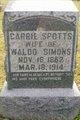 Carrie <I>Spotts</I> Simons