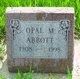 Profile photo:  Opal Mae <I>Ellington</I> Abbott