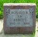 "Profile photo:  Ronald Blair ""RB"" Abbott"