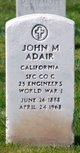 John M Adair