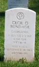 Profile photo: SFC Cecil Odell Bundage