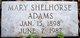 Profile photo:  Mary <I>Shelhorse</I> Adams