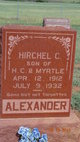 Profile photo:  Hirchel C. Alexander